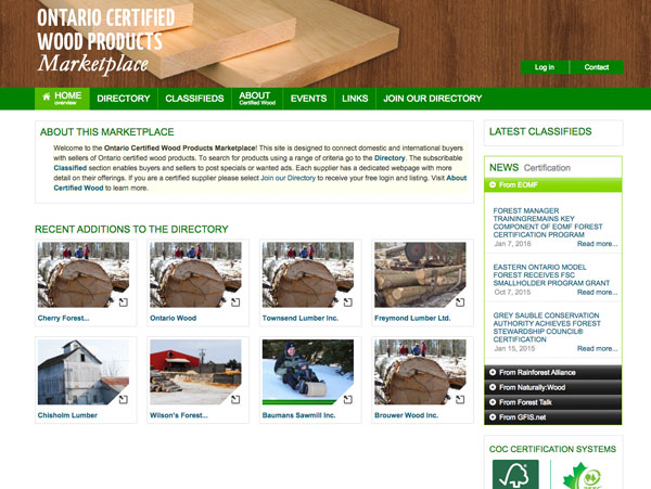 Ontario Certified Wood Products